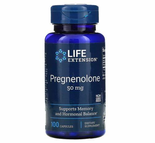 Pregnenolona 50 mg - Life Extension - 100 Cápsulas