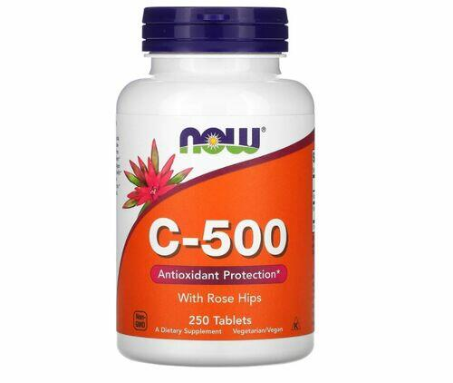 Vitamina C 500 mg + Rosa Mosqueta - Now Foods - 250 tablets