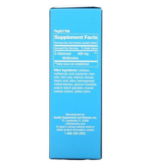 Same Adenosyl Methionine (SAME) 400 mg - Life Extension - 60 Tablets