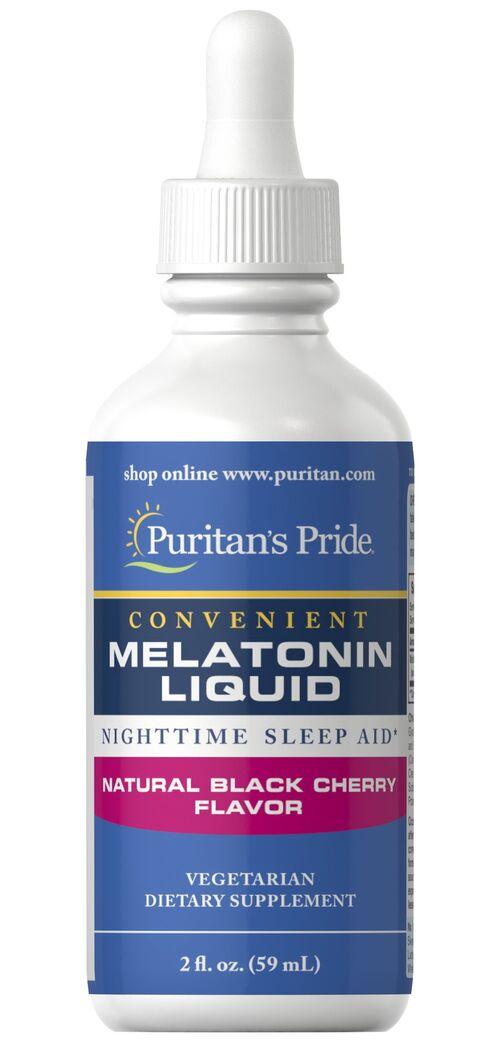 Melatonina líquida 1 mg Sabor Cereja - Puritan´s Pride - 59 ml (hormônio do sono)