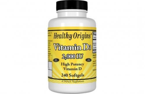 Vitamina D-3 2000 IU - Healthy Origins - 240 Softgels