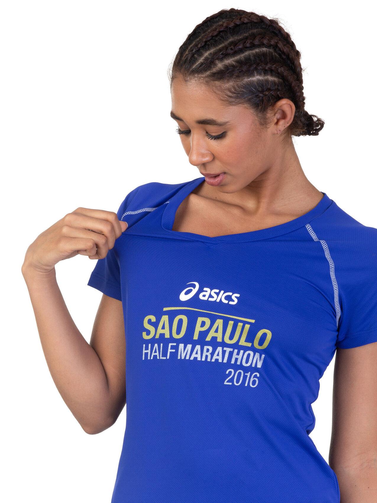 Camiseta SP City Half 2016 Manga Curta Feminina