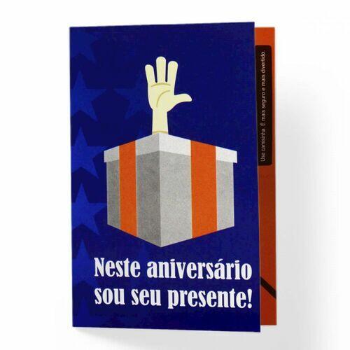 Mini Cartão de Aniversário - Sou Seu Presente