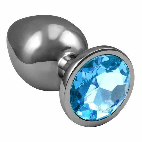 Plug Anal em Aço com Cristal Arredondado - Tamanho G