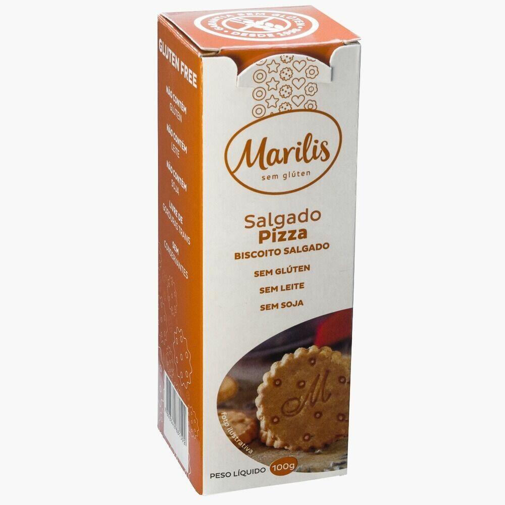 Biscoito Sem Glúten Salgado Pizza Marilis 100g