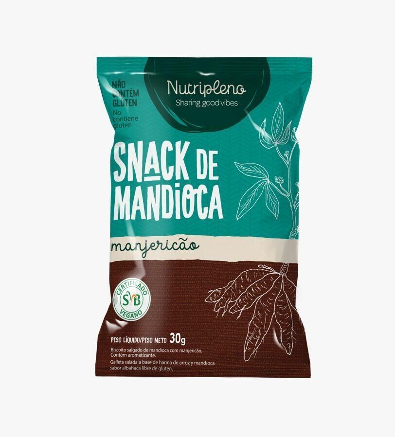 Snack de Mandioca Sem Glúten Sabor Manjericão Nutri Pleno 30g