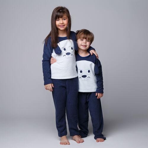 Pijama Longo Infantil Inverno Plush Cachorrinho
