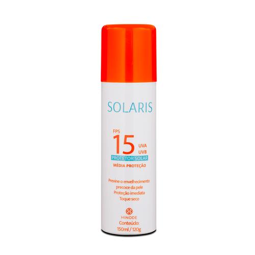 Protetor Solar Aerossol FPS 15 UVA e UVB Solaris 150ml
