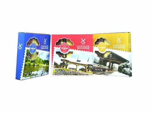 3 Barras de Chocolate - Caixa 75g