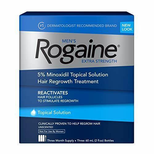 FRETE GRÁTIS - ROGAINE LÍQUIDO MINOXIDIL 5% - 3 FRASCOS