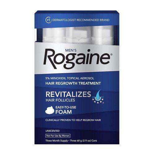 FRETE GRÁTIS - ROGAINE MINOXIDIL 5% - FOAM/ESPUMA 3 FRASCOS