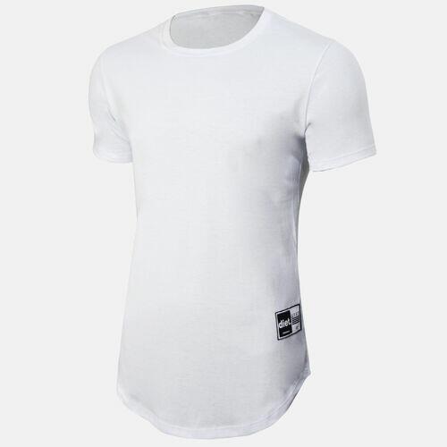 Camiseta Longline Masculina Lisa Branca