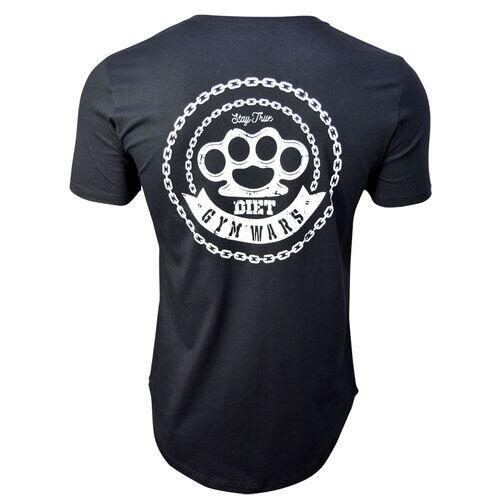 Camiseta Longline Masculina Gym Wars Diet Preta