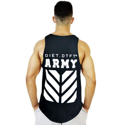 Regata Masculina de Treino Tradicional Army II XXI Preto