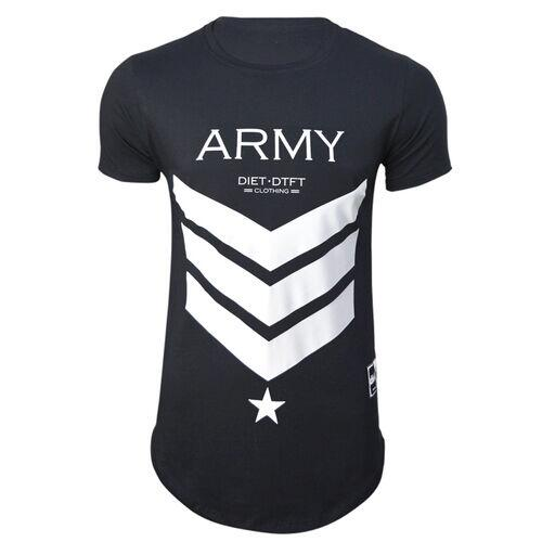 Camiseta Masculina Anatômica Army XXI Preto