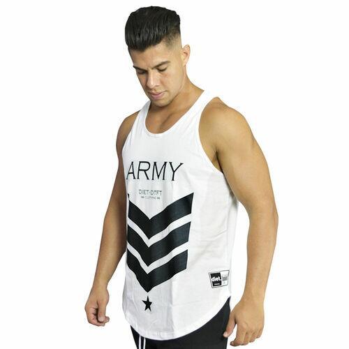 Regata Masculina de Treino Tradicional Army XXI Branca