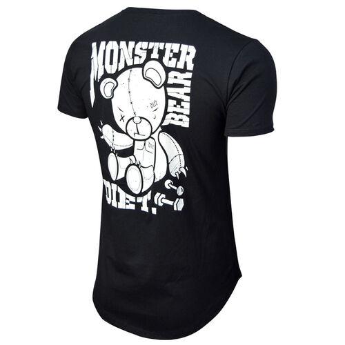 Camiseta Masculina Longline Monster Diet Preta
