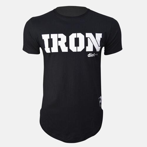 Camiseta Longline Masculina IRON Preta