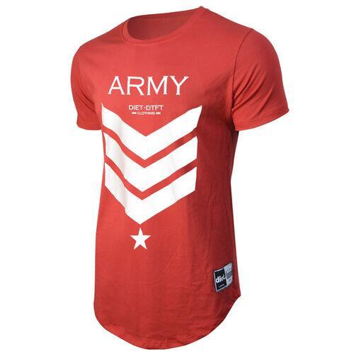 Camiseta Masculina Longline Army XXI Vermelha