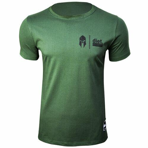 Camiseta Tradicional Masculina Gym Wars Diet Verde