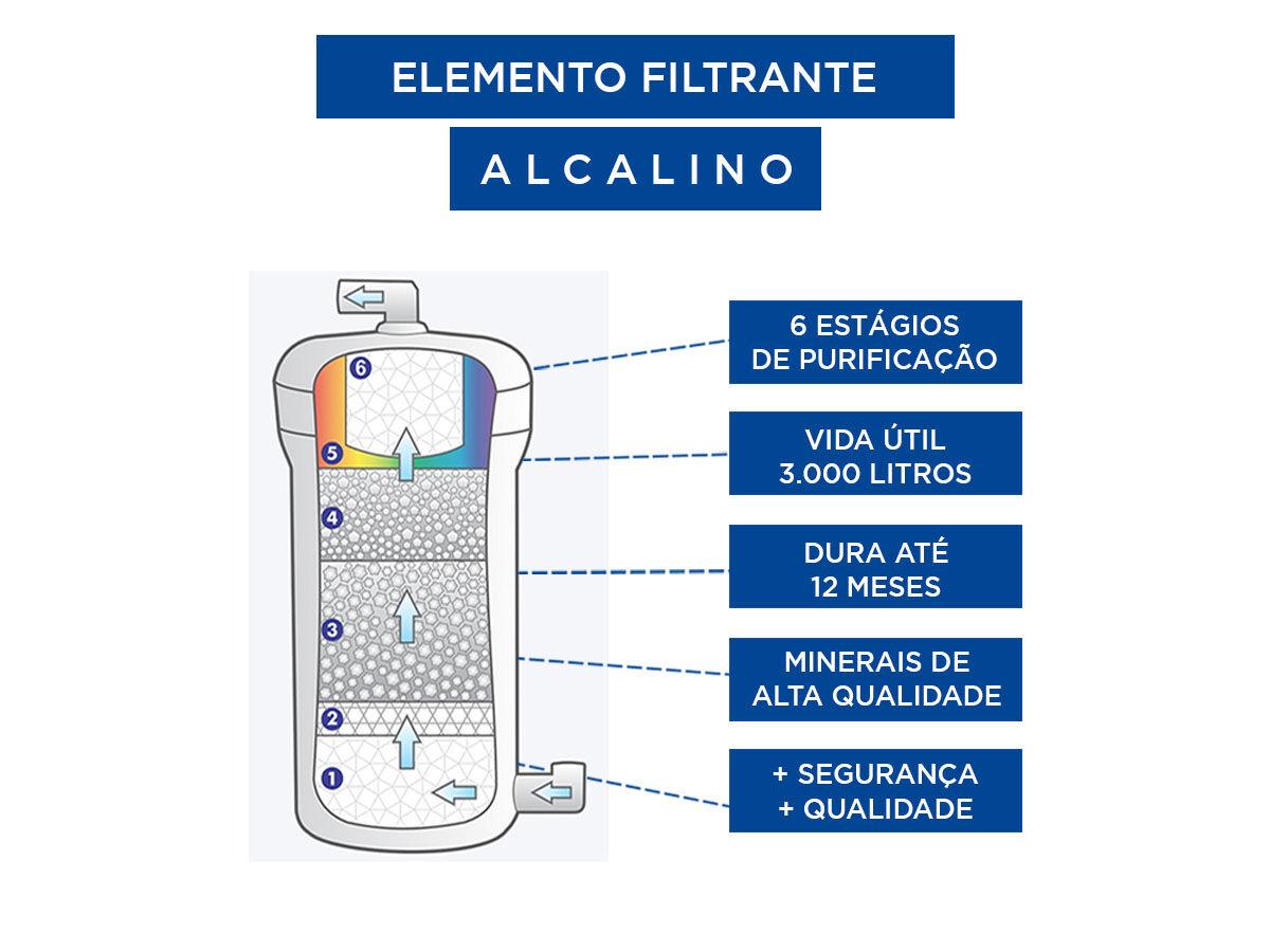 Purificador de água Alcalina, Ionizada Top Life Preto c/ozonio