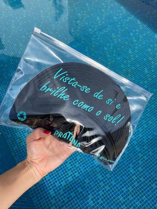 Viseira Turbante UV50+ DUPLA-FACE - Premium cor Azul Marinho