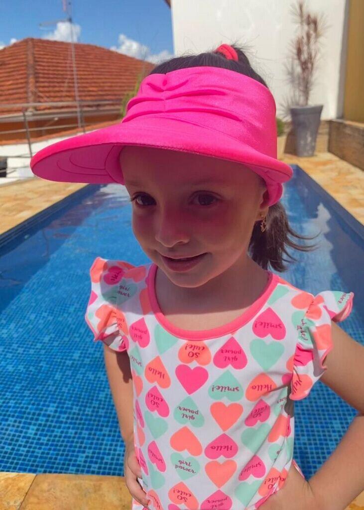 Viseira UV50+ KIDS - Rosa Neon