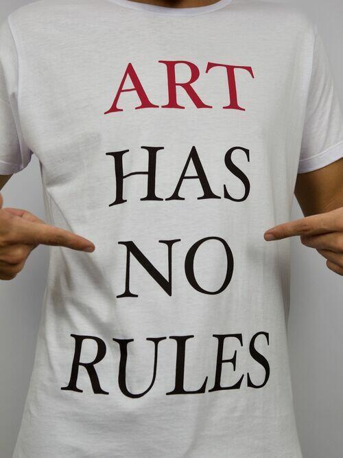 CAMISETA ART HAS NO RULES