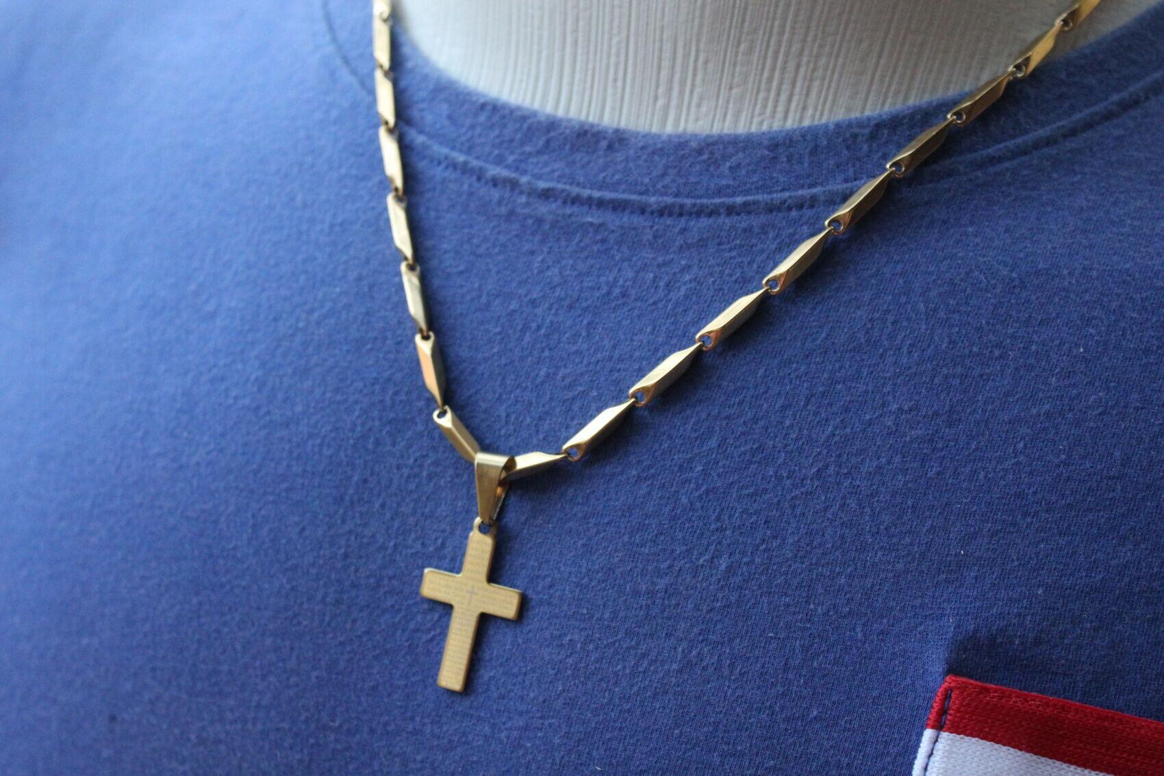 Corrente Cordão Cruz Jesus Crucifixo Cristo Banho Ouro CJ44