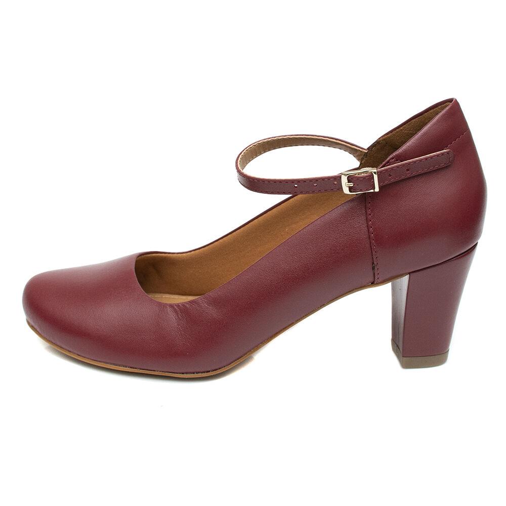 Sapato de Dança Pattini Comfort em Couro Vermelho