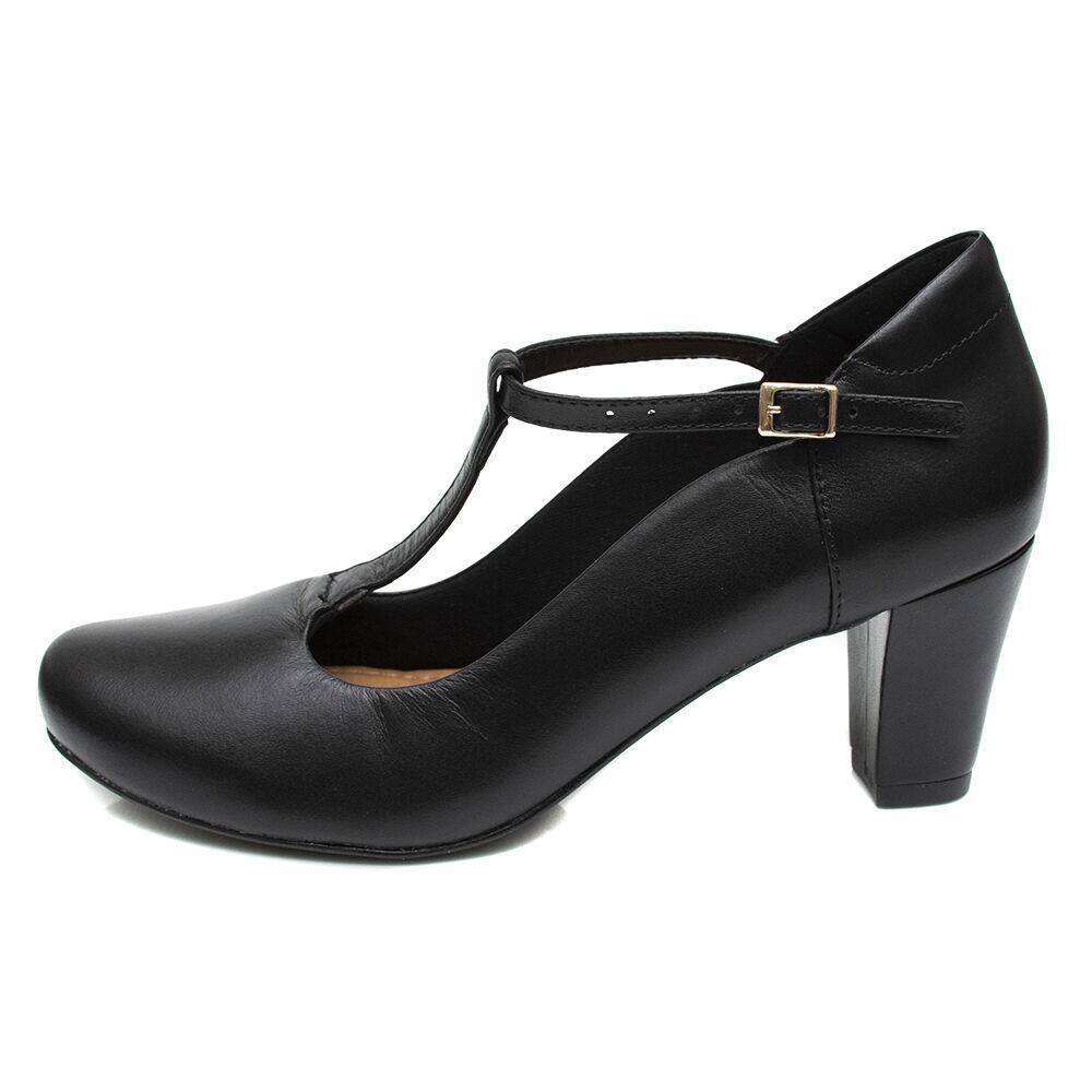 Sapato de Dança Pattini Comfort Fechado em Couro Preto