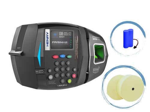 Relógio de Ponto Biométrico Henry Prisma Super Fácil Combo REP | Bateria | Bobinas