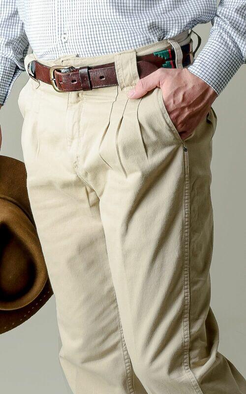 Bombacha Masculina Montaria com Elastano - Cor Bege Envelhecido