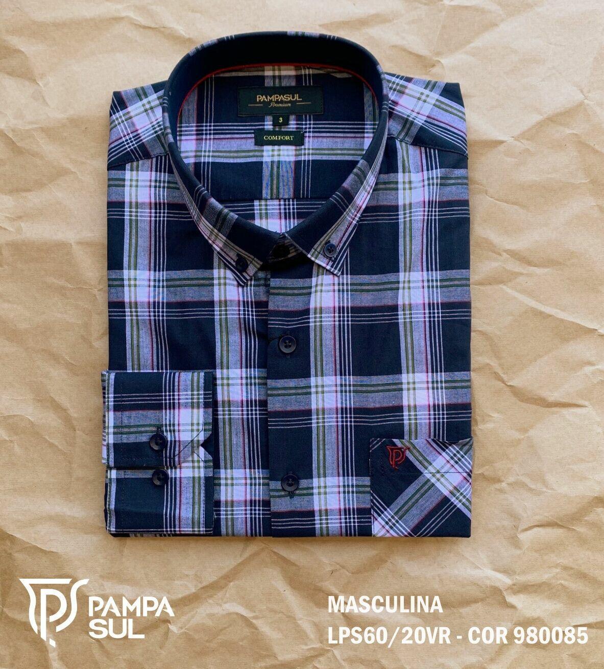 Camisa Pampa Sul Masculina Slim Confort LPS 60/20