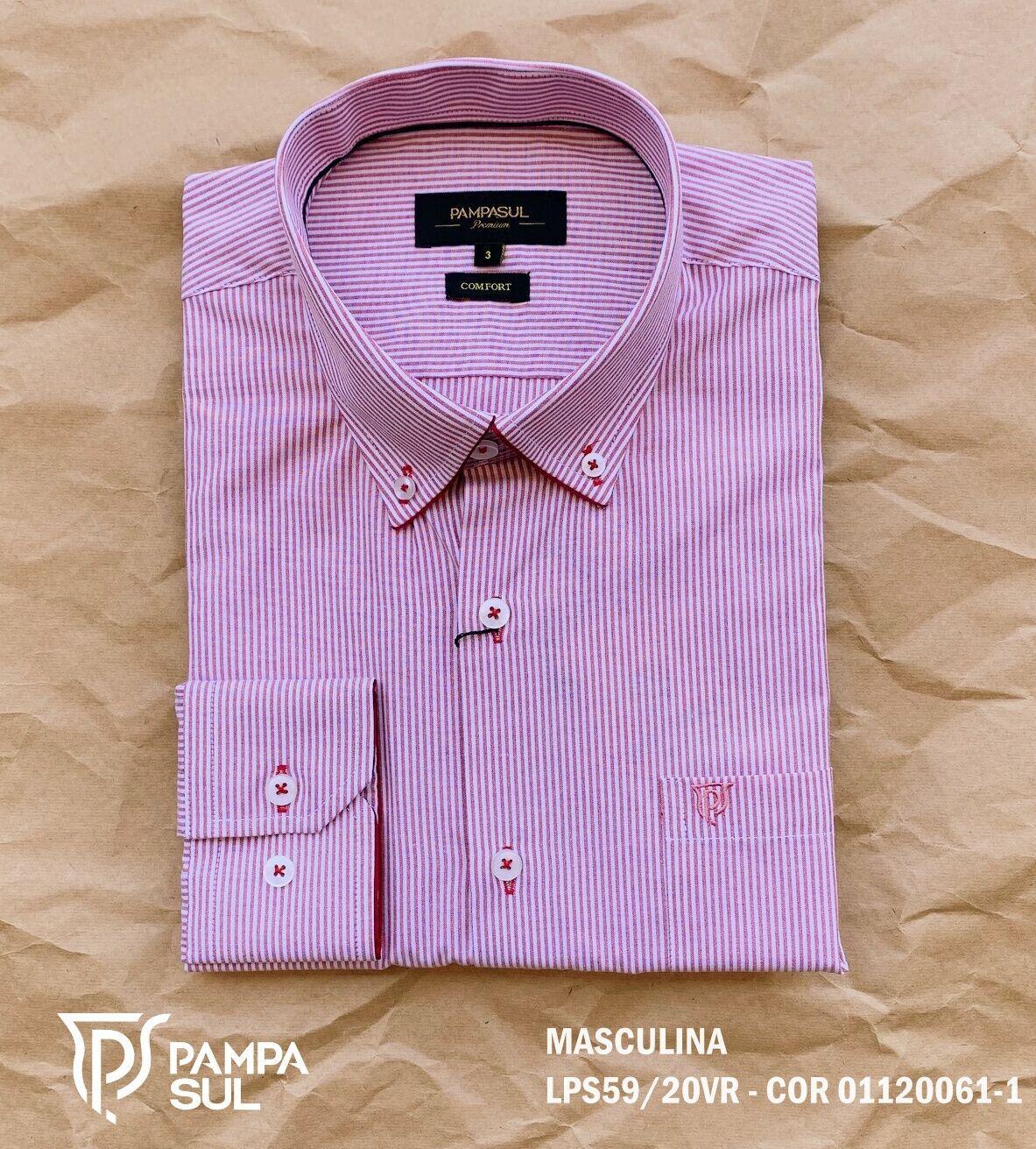 Camisa Pampa Sul Masculina Slim Confort LPS 59/20