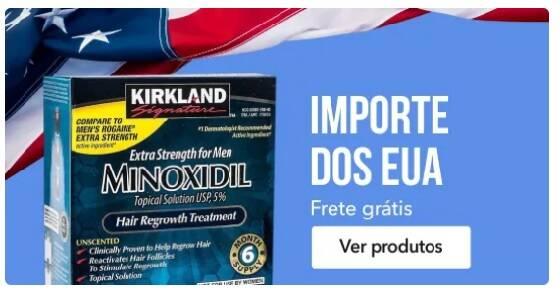 Banner do Minoxidil Kirkland EUA - Mobile
