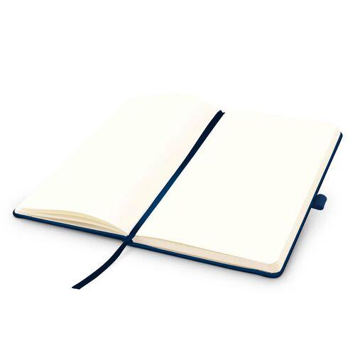 Kit 2x Caderneta de Anotações 13,7x21cm 80 Fls Sem Pauta Azul