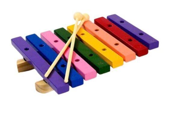 Xilofone 8 Teclas Madeira Colorido