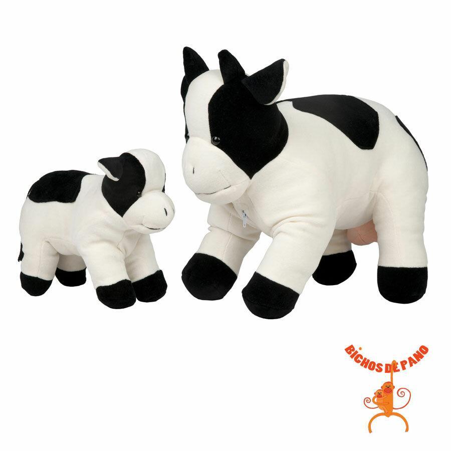 Vaca Malhada Grávida com 1 Filhote