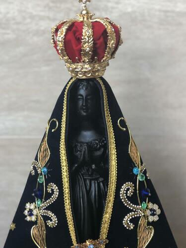 Nossa Senhora Aparecida - Completa - Resina