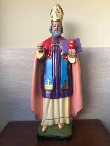 Santo Agostinho - 67,5 cm - Gesso