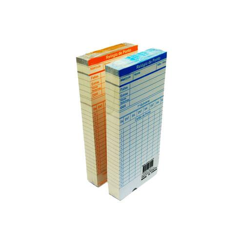 Cartão Ponto Relógio Cartográfico - 100 Unidades
