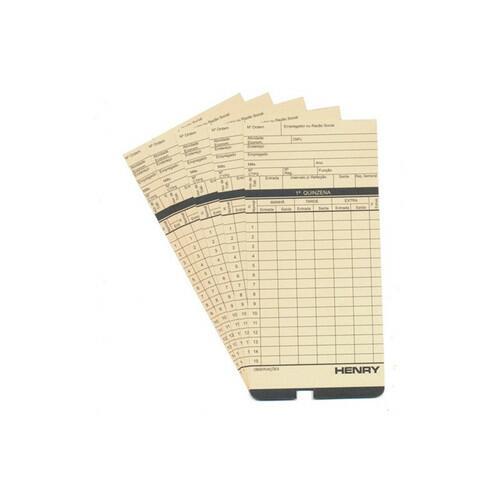 Cartão Ponto Relógio Cartográfico Henry Plus - 100 Unidades