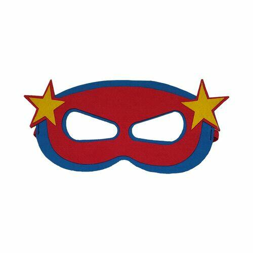 Máscara Herói Estrela Vermelho E Azul