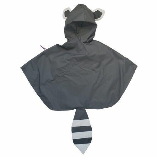 Capa De Chuva Guaxinim Cinza