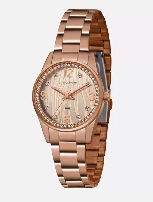 Kit Relógio Feminino Strass Lince