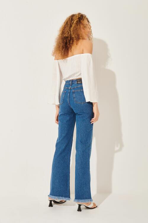 Calça Flare Vintage Jeans Blue