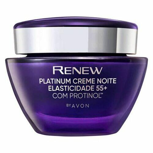 Avon Renew Creme Platinum Noite Elasticidade 55+ - 50g