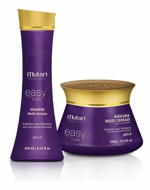 Mutari Easy Nutrit Kit Hidratação Cabelos com Química Sh + Másc.