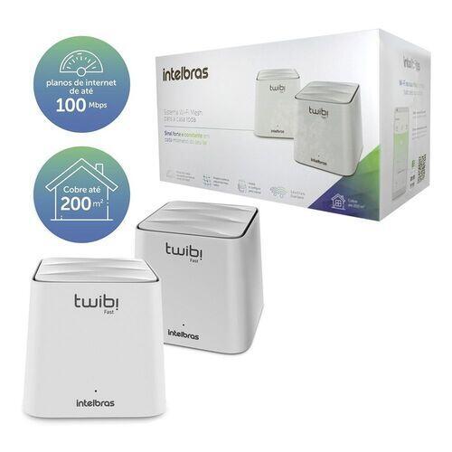 Roteador Wi-fi Mesh Intelbras Kit Twibi Fast 2 Unidades